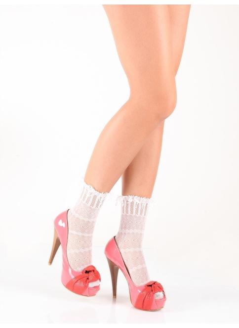 Pierre Cardin 2 Çift File Soket Çorap  Beyaz